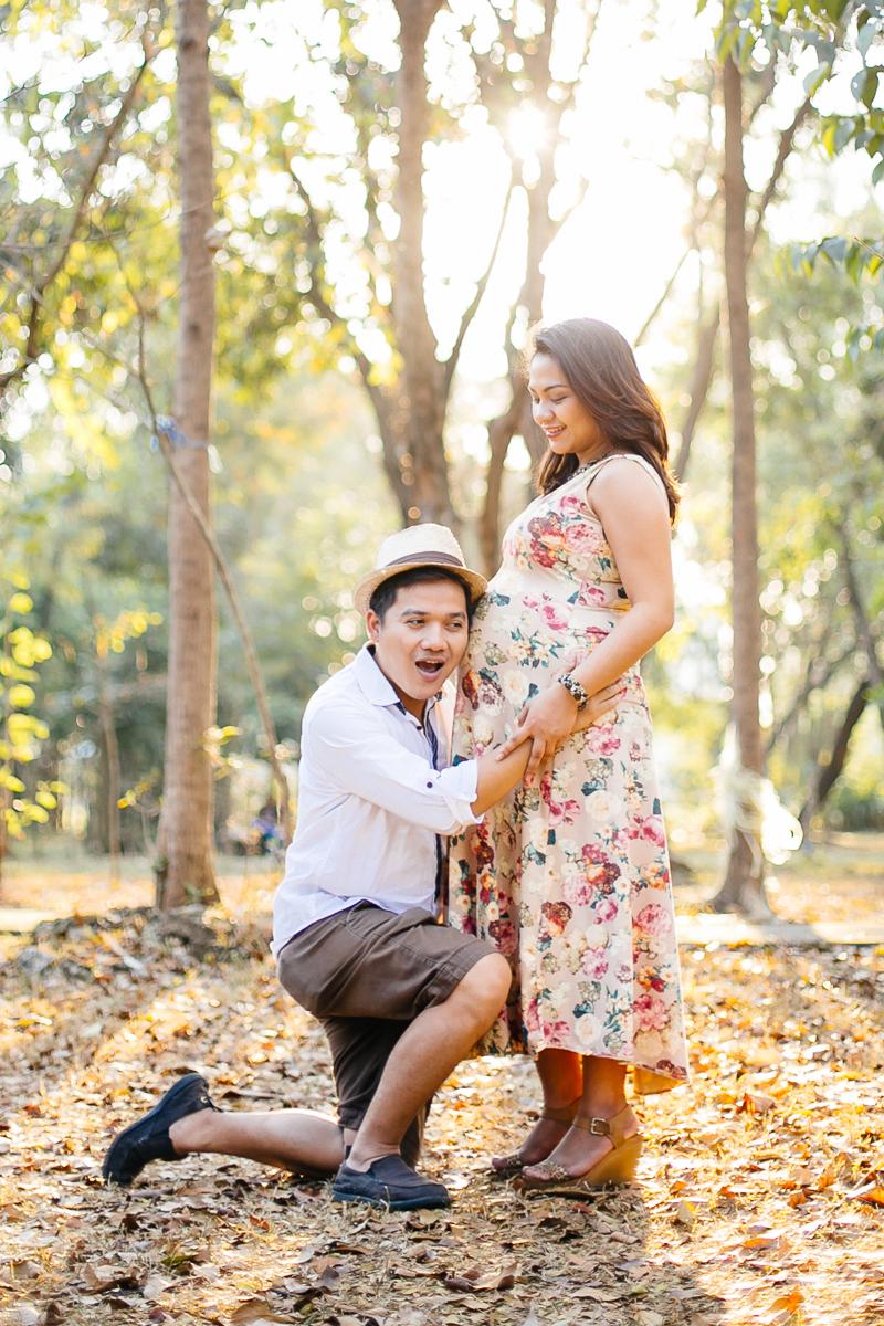 maternity portrait expecting parents