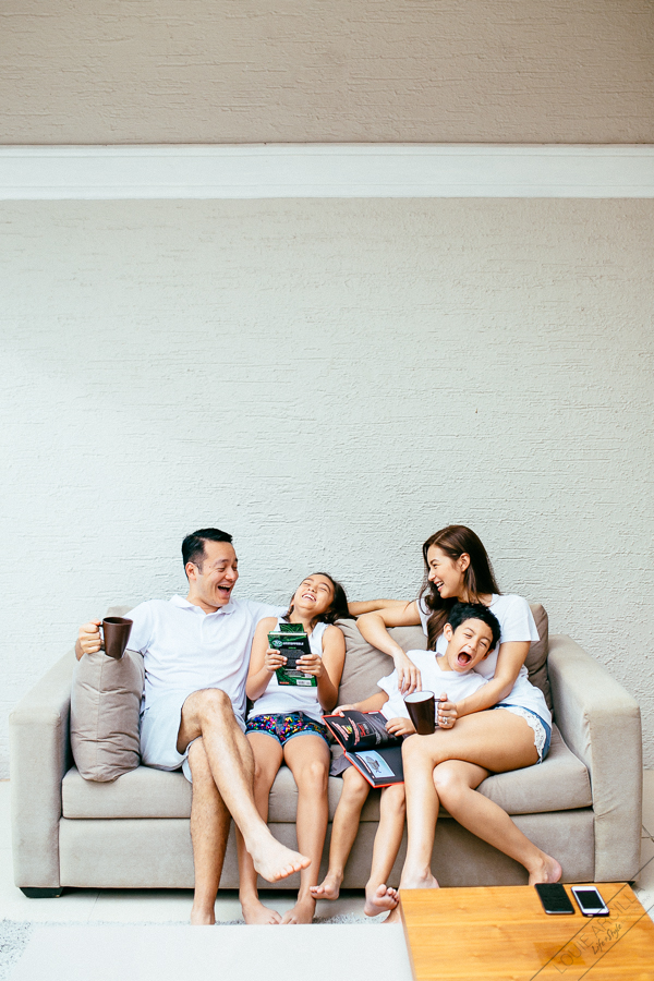 family portrait session at home  - the martinez family